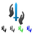 classic guard flat gradient icon vector image vector image