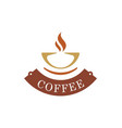 coffee cup abstract logo vector image vector image
