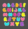 cute hand drawn alphabet funny comics font vector image