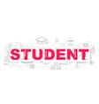 design concept word student website banner vector image