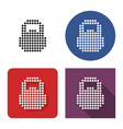 dotted icon weight in four variants with short vector image vector image