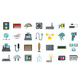 electric device icon set flat style vector image