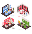 expo stand design concept vector image vector image