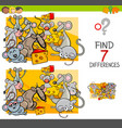 find differences with mice animal characters vector image vector image