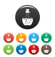 flask potion icons set color vector image vector image