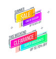 flat linear promotion banner abstract design vector image