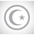 Grey Turkey symbol sign icon vector image vector image