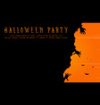 halloween party background greeting card vector image vector image