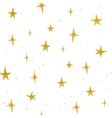 Hand drawn golden stars seamless pattern vector image vector image