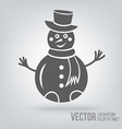 Icon snowman isolated black on white background vector image vector image