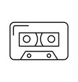 isolated audio cassette tape vector image vector image