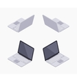 Isometric silver laptop vector image vector image