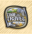 logo for travel agency vector image