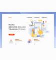 make online transactions header template vector image vector image