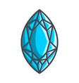 marquis diamond in a flat style vector image vector image