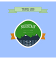 Mountain Camping logo label and badge Travel vector image vector image
