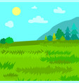 mountains pine and spruce forest nature landscape vector image vector image