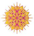 ornamental floral mandala carpet ornament pattern vector image
