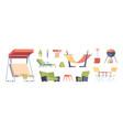 outdoor decoration garden exterior furniture vector image