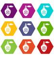 perfume icons set 9 vector image vector image