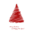 red fir vector image