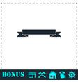 ribbon icon flat vector image vector image
