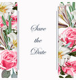 save date card template vector image vector image
