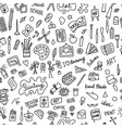 school of drawing seamless pattern for your vector image vector image