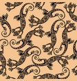 seamless pattern with lizard vector image vector image