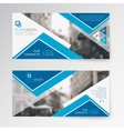 Set horizontal abstract flyer template with vector image vector image