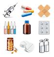 set medicaments vector image