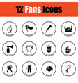 Set of soccer fans icons vector image