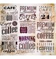 Set Of Vintage Retro Coffee vector image vector image