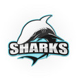 shark logo for a sport team vector image