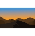 Silhouette of dry mountain vector image vector image