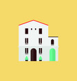 spanish flat house traditional flat modern vector image