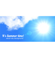 Sun and sky realistic banner vector image vector image