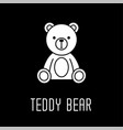 teddy bear soft toy line icon outline sign
