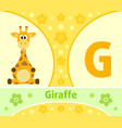 the english alphabet with giraffe vector image vector image