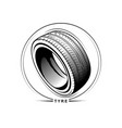 tire on white background vector image vector image
