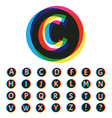 Trendy Colorful Alphabet Set vector image vector image