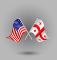 two crossed american and flag of georgia vector image