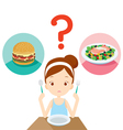 Useful and useless food question for choosing vector image vector image
