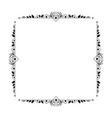 vintage black elegant frame with rhombuses vector image vector image