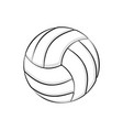 volleyball symbol with shadows vector image