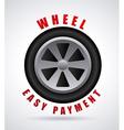 wheel design vector image