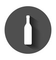wine bottle icon in flat style alcohol bottle vector image