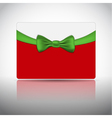 Gift card with ribbon and bow vector image