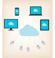 Flat design concept of cloud computing concept vector image