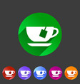 coffee cup coffee bean icon flat web sign symbol vector image